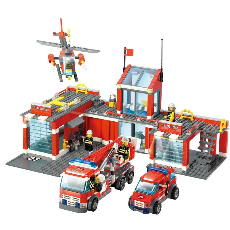 兼容乐高拼装积木城市消防局系列飞机车组装儿童益智玩具模型 b027